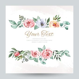Cartolina d'auguri dell'acquerello