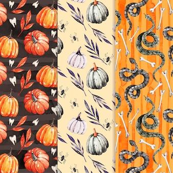 Collezione di modelli di halloween dell'acquerello