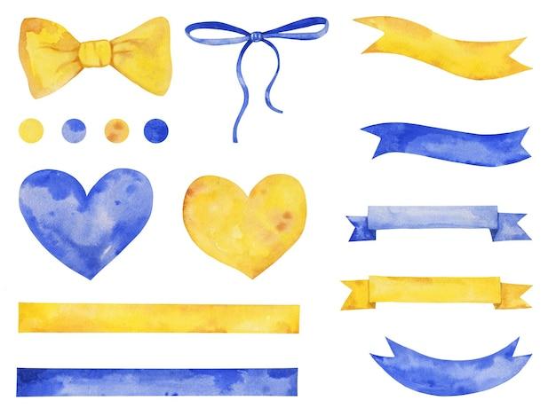 Set doccia per bambini disegnato a mano ad acquerello