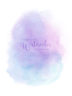 Acquerello dipinto a mano astratto con disegno a pennello rosa-blu