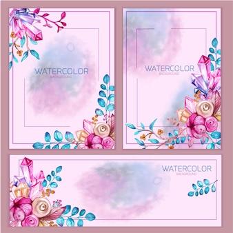 Set di carte dell'invito dell'acquerello