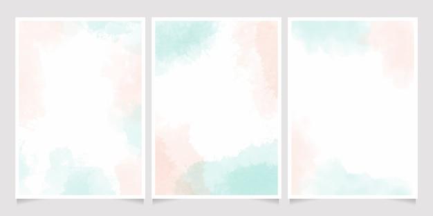 Acquerello verde chiaro e rosa rosa splash sfondo