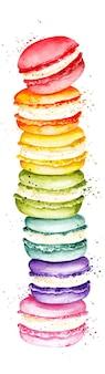 Macarons dell'acquerello