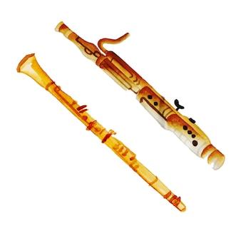 Acquerello strumento musicale