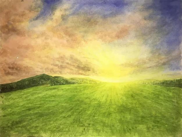 Illustrazione di struttura della luce solare della natura dell'acquerello