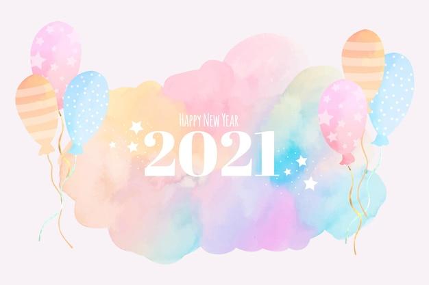 Acquerello nuovo anno 2021
