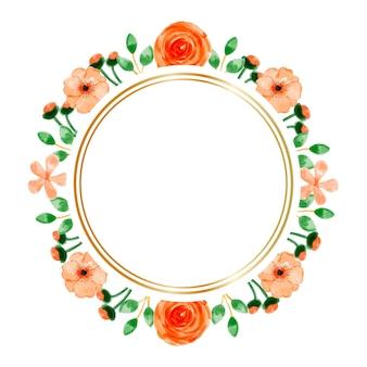 Priorità bassa della struttura del fiore arancione dell'acquerello