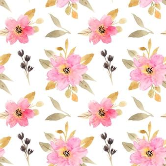 Tessuto senza cuciture con bouquet floreale rosa acquerello watercolor