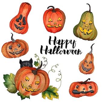 Zucca ad acquerello per halloween