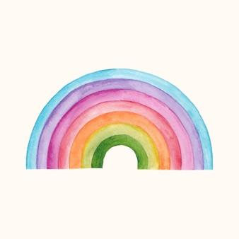 Disegno arcobaleno dell'acquerello