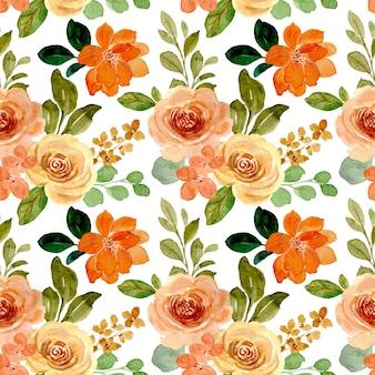 Reticolo senza giunte del fiore di rosa dell'acquerello