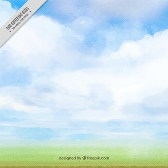 Acquerello sfondo del cielo