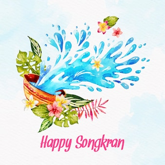 Songkran dell'acquerello