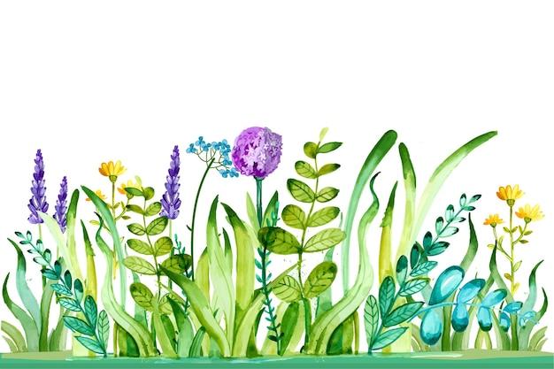Sfondo primavera acquerello