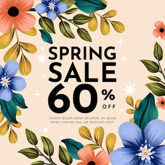 Illustrazione di vendita di primavera dell'acquerello