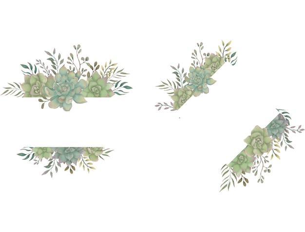 Pianta di piante grasse dell'acquerello