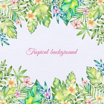 Priorità bassa tropicale di estate dell'acquerello