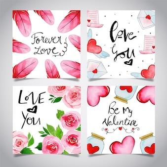 Collezione di carte valentine valentine