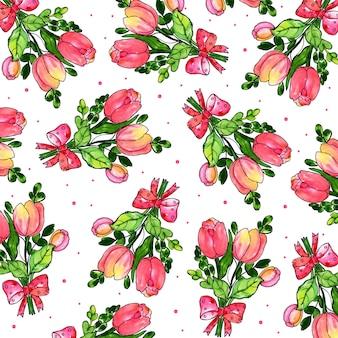 Acquerello valentine pattern background