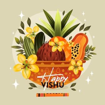 Illustrazione dell'acquerello vishu