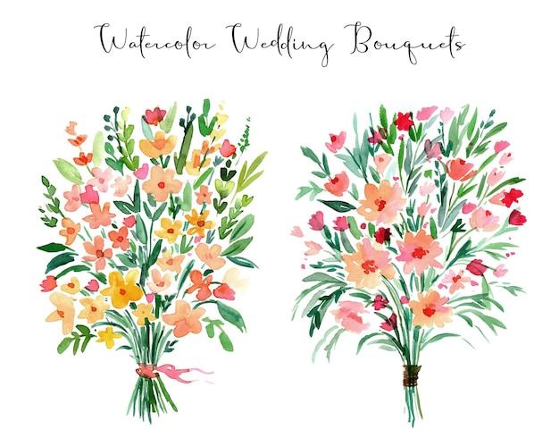 Mazzi floreali di nozze ad acquerello