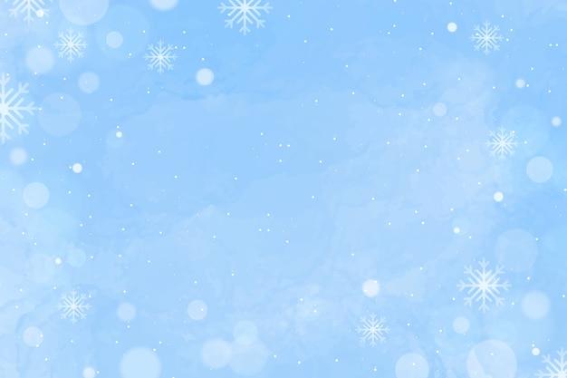 Priorità bassa di inverno dell'acquerello con spazio vuoto