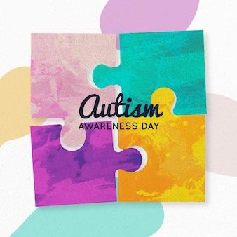 Giornata mondiale della consapevolezza sull'autismo dell'acquerello