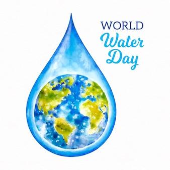 Giornata mondiale dell'acqua dell'acquerello