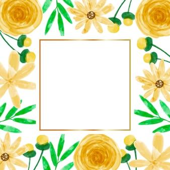 Priorità bassa della struttura del fiore giallo dell'acquerello