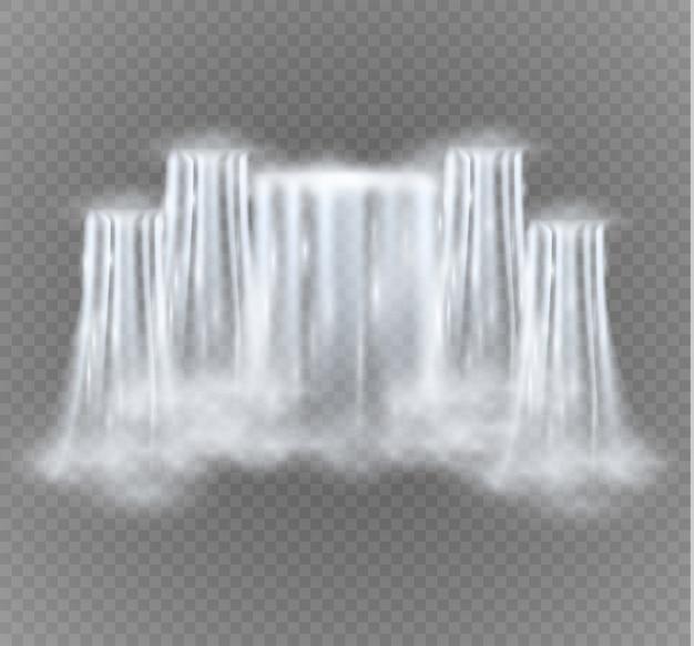 Cascata isolata su sfondo trasparente