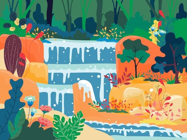 Cascata in una giungla