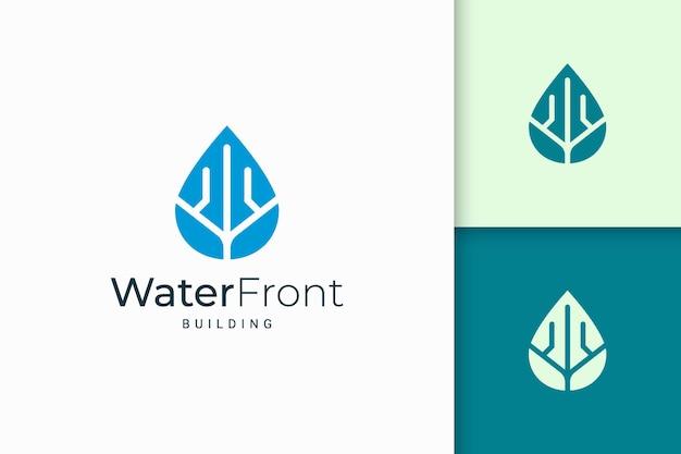 Appartamento fronte mare o logo della proprietà forma moderna