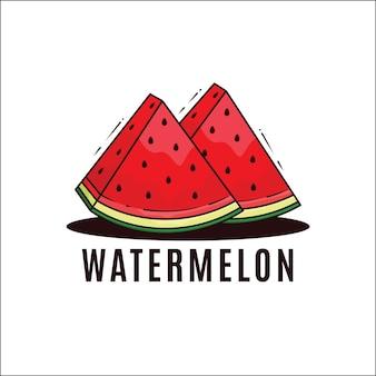 Illustrazione di logo fresco di anguria