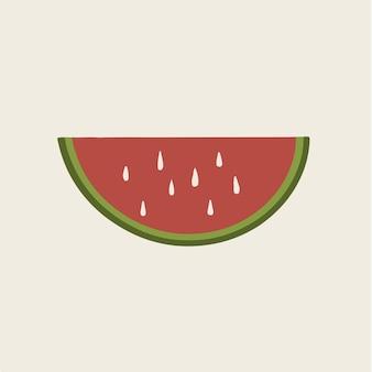 Simbolo della frutta dell'anguria social media post vector illustration
