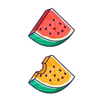 Illustrazione di fetta di anguria.