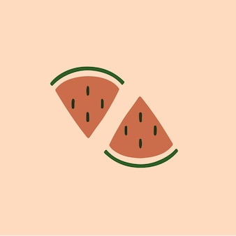 Simbolo dell'anguria social media post fruit vector illustration