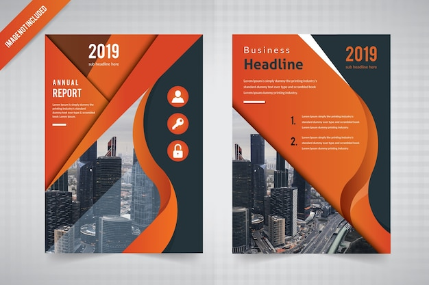 Wave flyer flyer template for annual report
