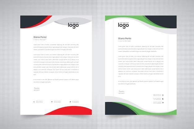 Wave design di carta intestata