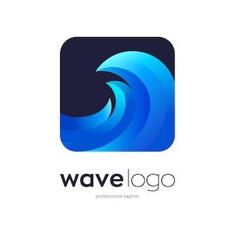 Disegno del logo dell'onda