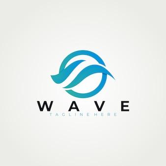 Modello di logo di onda