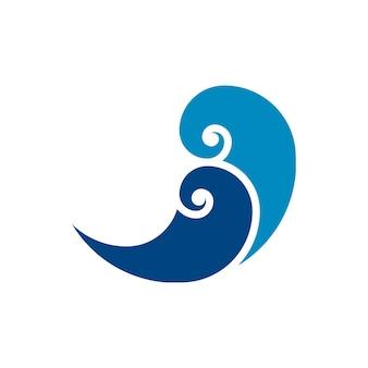 Simbolo del logotipo di turbinio dell'acqua di vettore del logo dell'onda