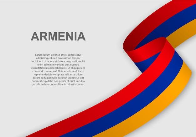 Sventolando la bandiera dell'armenia.