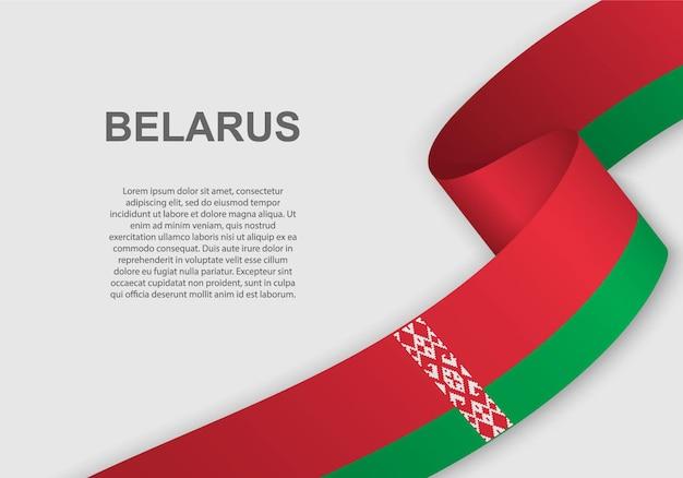 Sventolando la bandiera della bielorussia.