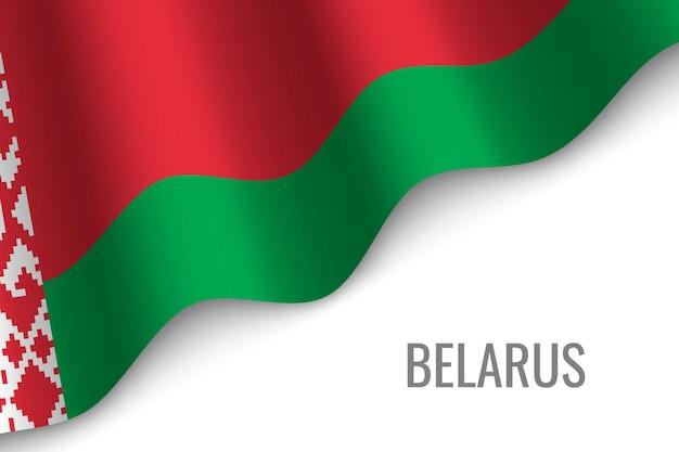 Sventolando la bandiera della bielorussia