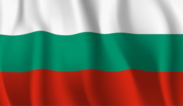 Sventolando la bandiera della bulgaria. sventolando la bandiera della bulgaria
