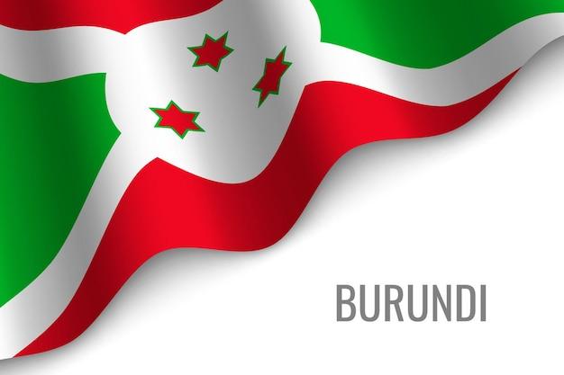 Sventolando la bandiera del burundi