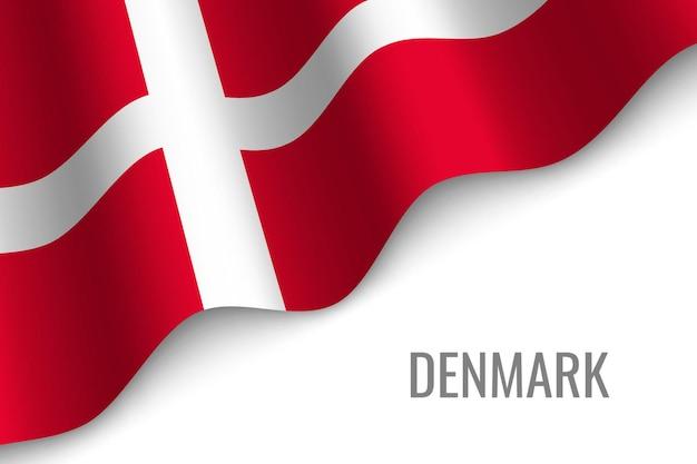 Sventolando la bandiera della danimarca