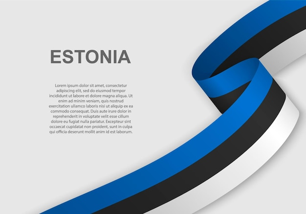 Sventolando la bandiera dell'estonia.
