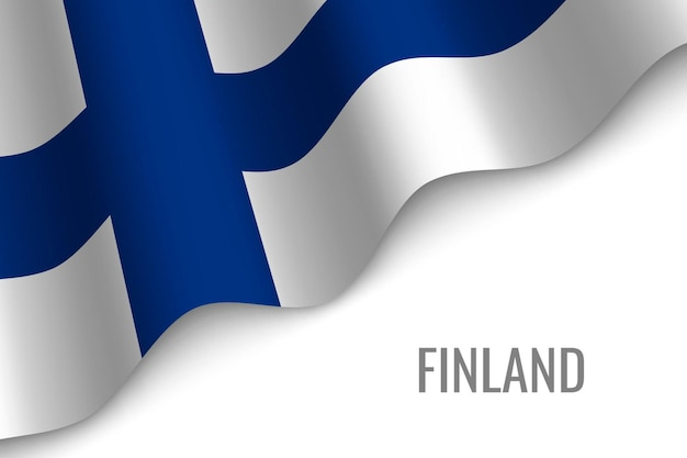 Sventolando la bandiera della finlandia