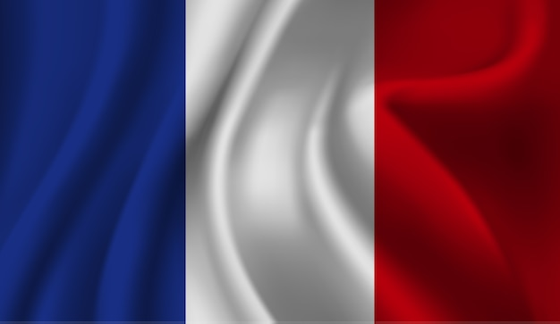 Sventolando la bandiera della francia. sventolando la bandiera della francia sfondo astratto